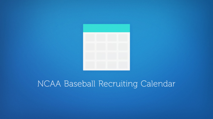 NCAA Baseball Recruiting Calendar